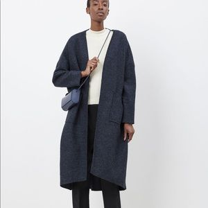 PRIORY RO NAVY SPECKLED BOILED WOOL JACKET